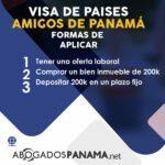 Visa de paises amigos de panama, formas de aplicar
