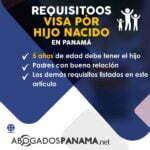 Visa por Hijo nacido en Panamá Requisitos